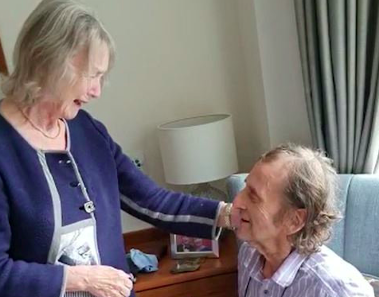 Colin Bagshaw suffered a stroke in November while Jane Bagshaw was diagnosed with dementia two years ago. (SWNS)