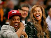 <p>The couple had courtside seats for the Brooklyn Nets v Toronto Raptors in the NBA playoffs.</p>