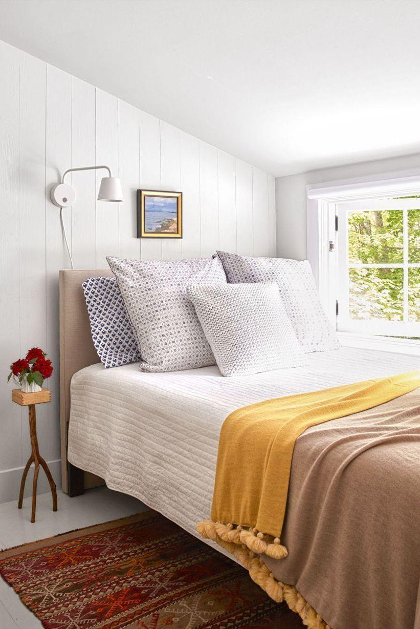 "<p>Don't fret if you have a small bedroom. A narrow nightstand, like this charming Ikea design, is a great option to help reduce clutter. </p><p><a href=""https://www.goodhousekeeping.com/home/decorating-ideas/g32174967/small-bedroom-ideas/"" rel=""nofollow noopener"" target=""_blank"" data-ylk=""slk:RELATED: 15 Small Bedroom Decor Ideas That Feel Grand"" class=""link rapid-noclick-resp""><strong>RELATED:</strong> 15 Small Bedroom Decor Ideas That Feel Grand</a></p>"