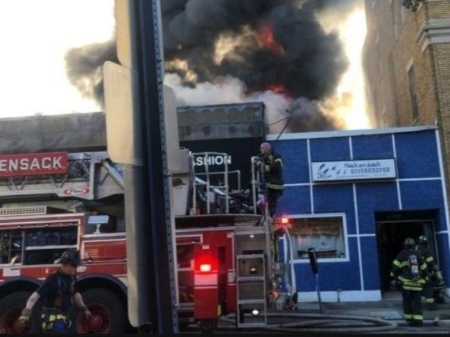 Hackensack Riverkeeper's headquarters at 231 Main Street in Hackensack was severely damaged by a three-alarm fire Saturday evening.