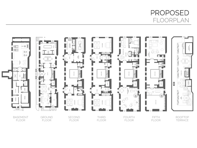 A 20 unit apartment building in brooklyn is being turned for 5 unit apartment building plans