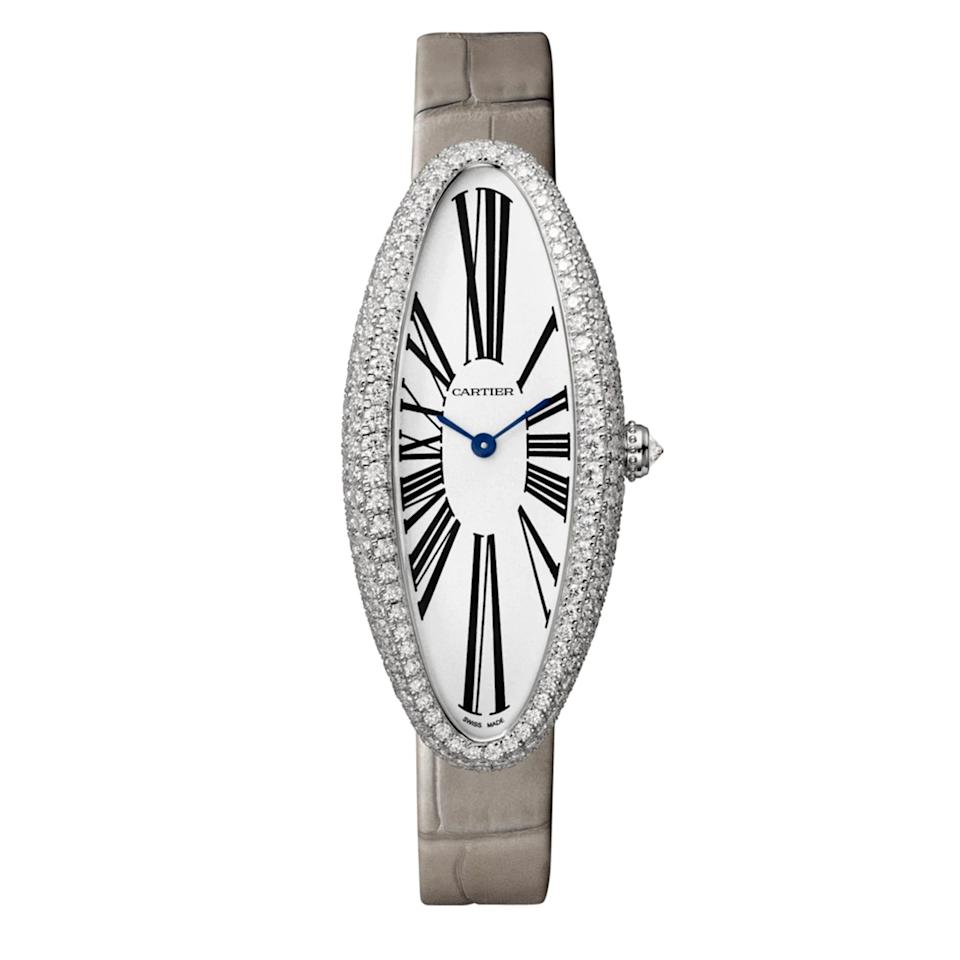 "<p>This luxe timepiece is a modern iteration of the original 1912 style, and is just as elegant now as it was then.</p> <p><strong>Buy now:</strong> Cartier, Baignoire Allongée watch, medium model, 18k white gold, diamonds, leather, $40,900, <a href=""https://www.cartier.com/en-us/collections/watches/women-s-watch/baignoire/wjba0007-baignoire-allong%C3%A9e-watch.html"">cartier.com</a>.</p>"