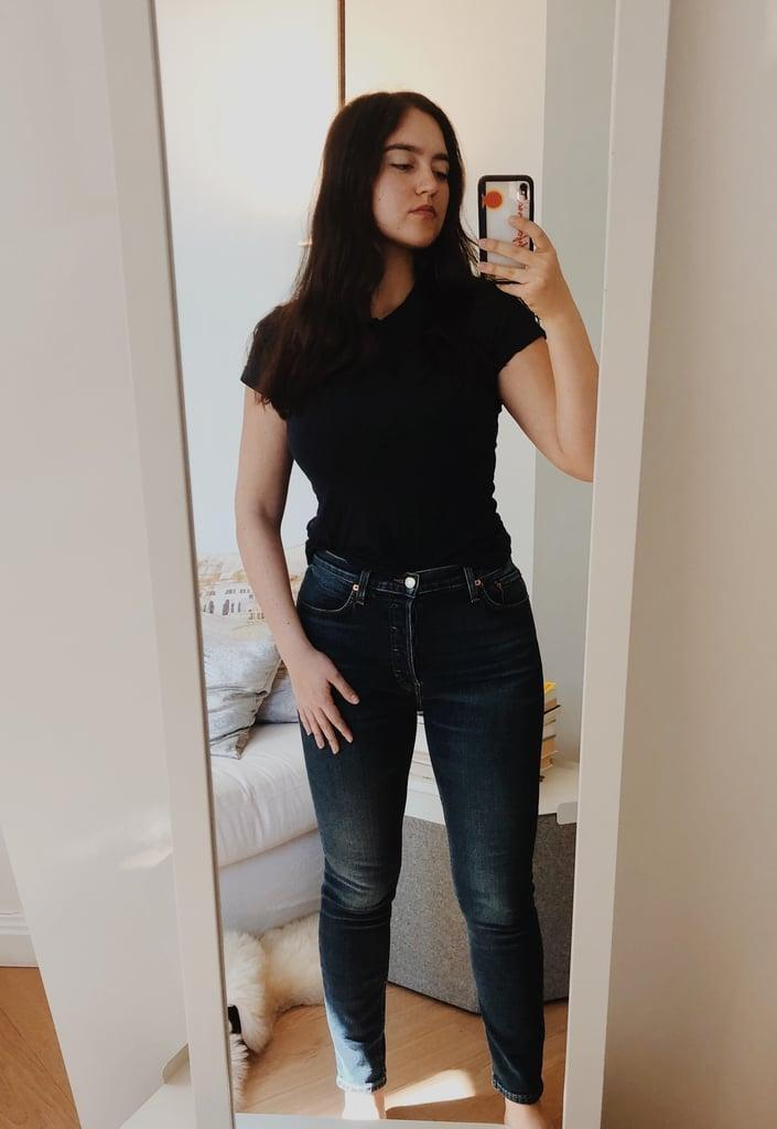 """<p><strong>The item:</strong> <span>Old Navy Mid-Rise Rockstar Super Skinny Jeans</span> ($35). </p><p><strong>What our editor said: </strong>""""I don't know what the deal is with these jeans, but they're fantastic. I tried a mid-rise, dark-blue wash because I thought they were the most classic, and I really like them. They hug you in all the right places, but they don't feel overly tight or constricting. The stretch is there, in the best way possible. I love that these pants are size-inclusive, and they come in so many different washes, as well as distressed styles."""" - India Yaffe, associate editor, Shop </p> <p>If you want to read more, here is the <a href=""""http://www.popsugar.com/fashion/old-navy-rockstar-jeans-review-47237540"""" class=""""link rapid-noclick-resp"""" rel=""""nofollow noopener"""" target=""""_blank"""" data-ylk=""""slk:complete review"""">complete review</a>.</p>"""