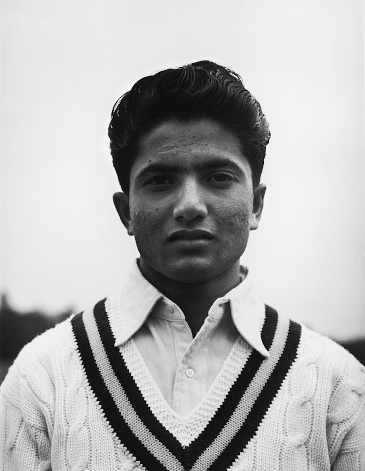 Pakistani test cricketer Hanif Mohammad, May 1954. (Photo by Dennis Oulds/Central Press/Hulton Archive/Getty Images)