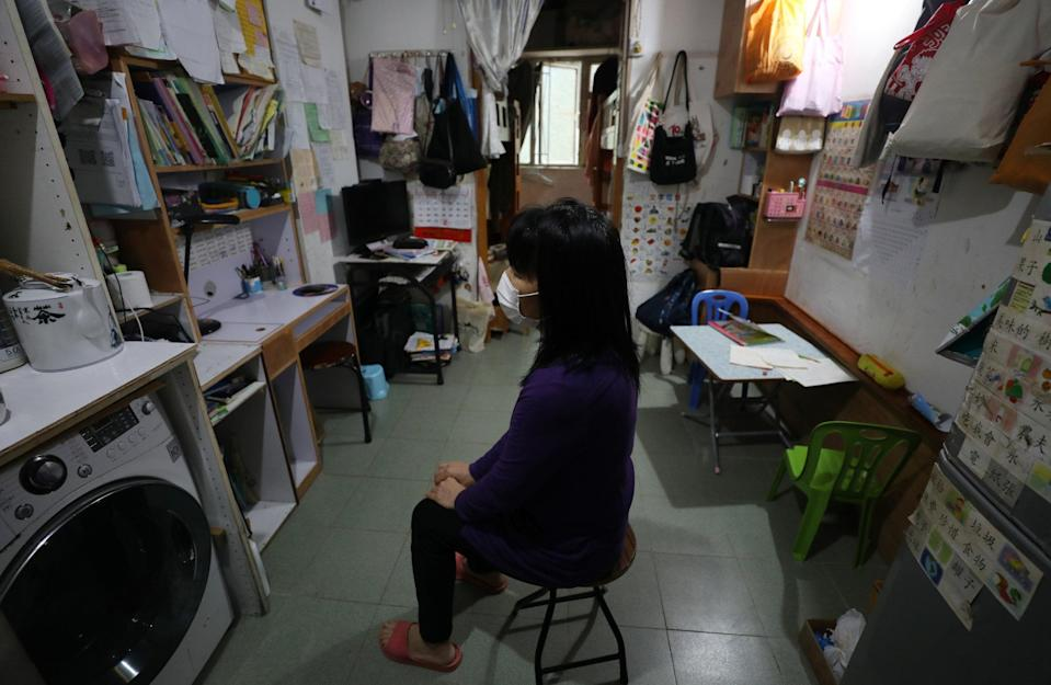 Many low-income families were forced to live in subdivided units due to the long waiting time to obtain public housing. Photo: Xiaomei Chen