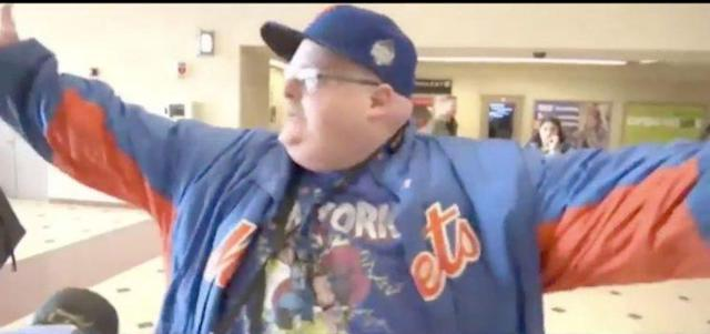 New York Mets fan is livid at New Jersey Transit.