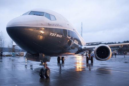 FILE PHOTO: FILE PHOTO: A Boeing 737 MAX 8 sits outside the hangar during a media tour of the Boeing 737 MAX at the Boeing plant in Renton, Washington December 8, 2015. REUTERS/Matt Mills McKnight/File Photo