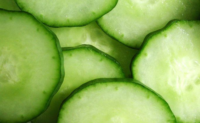 <p>Watery veggies like cucumbers will freeze just fine, but it's the thawing process that gets messy. Cucumbers get limp and soggy once they're defrosted. You're better off keeping them cold and using a couple slices to reduce eye puffiness than to try and make a salad with a frozen cuke. </p>