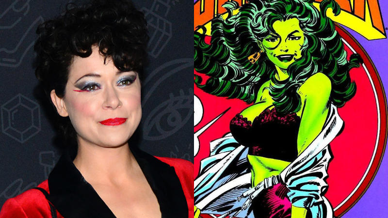 Tatiana Maslany has scored the role of She-Hulk for Disney+. (Credit: Chelsea Guglielmino/Getty Images/Marvel Comics)