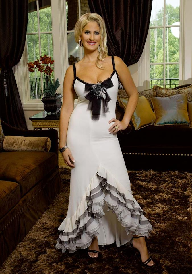 "Kim Zolciak of <a href=""/real-housewives-of-atlanta/show/43337"">The Real Housewives of Atlanta</a>."