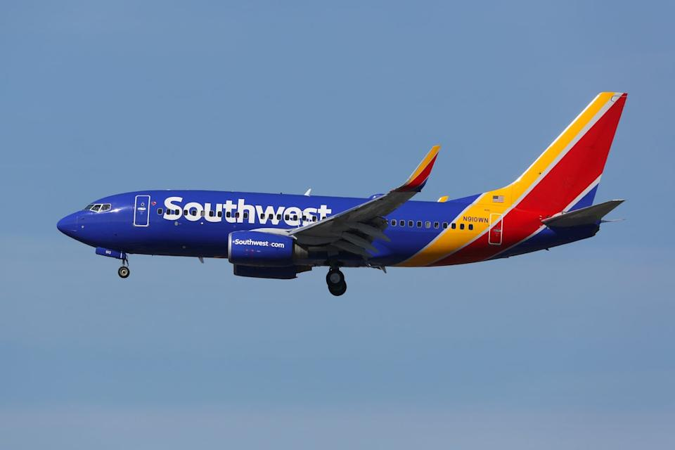 <p>The Southwest aircraft was taken to a remote part of the airport</p> (Getty Images)