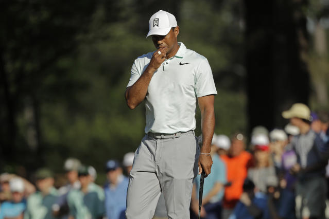 Tiger Woods didn't have a great day on the links Friday. (AP)
