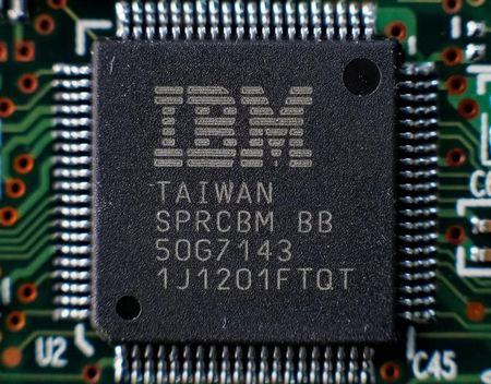 IBM surges 5% higher following upbeat performance results for the fourth quarter
