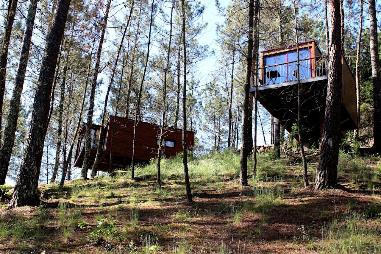 "<p><span>The pine forest pitches at </span><a rel=""nofollow"" href=""https://coolcamping.com/campsites/europe/portugal/porto-northern-portugal/1197-lima-escape""><span>Lima Escape</span></a><span> in the Peneda-Gerês National Park offer shade and shelter with splinted views of the River Limia beyond. Natural and largely untouched, camping spots come with all the roots and bumps that nature intended. For a touch of luxury (and a proper bed), book one of the furnished, stilted cabins in the trees. A tent and two people from €20 (£17). [Photo: Cool Camping]</span> </p>"