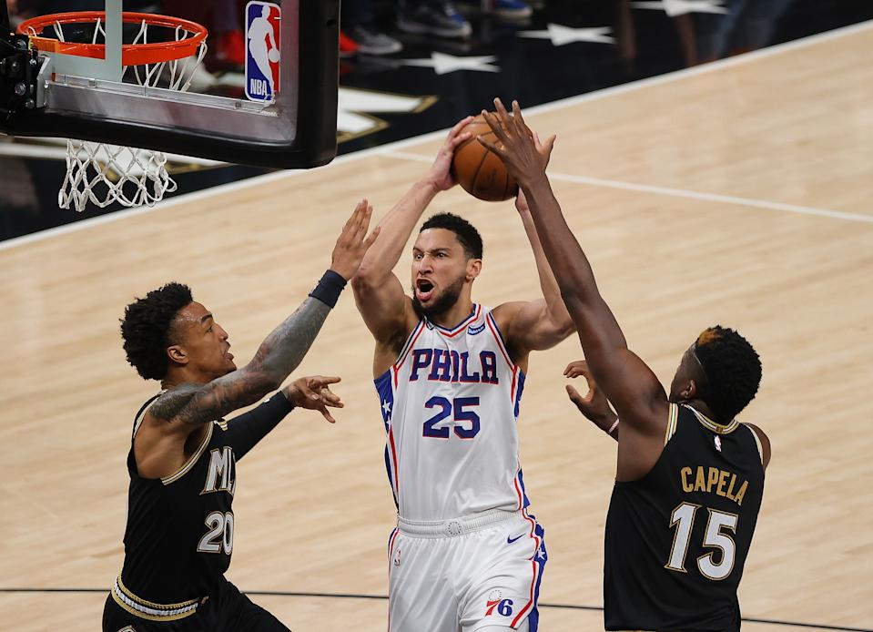 Ben Simmons struggled in a Game 7 loss to the Hawks.