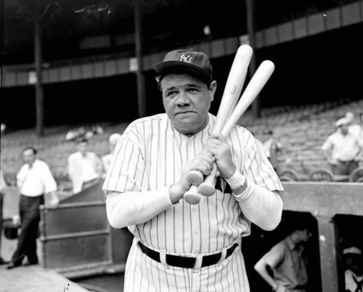 Babe Ruth was sold from the Red Sox to the Yankees for just $100,000. (AP)