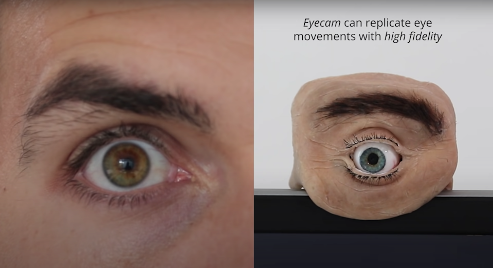 Somebody made an anthropomorphic web camera, dubbed Eyecam, and it is one of the creepiest devices ever.