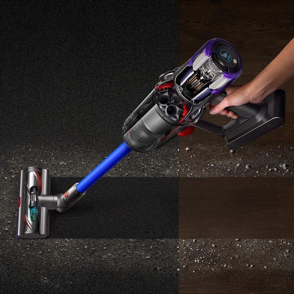 <p>There's no doubt that owning this <span>Dyson V11 Torque Drive Cordless Vacuum</span> ($600, originally $700) will make cleaning up easier. The powerhouse vacuum has so many useful attachments and settings that can suck up dirt, pet hair, and more.</p>