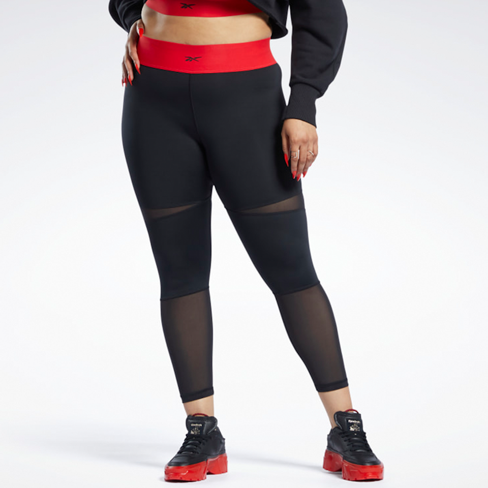 """<p><strong>Reebok x Cardi B 7/8 Leggings </strong></p><p>nordstrom.com</p><p><strong>$60.00</strong></p><p><a href=""""https://go.redirectingat.com?id=74968X1596630&url=https%3A%2F%2Fwww.nordstrom.com%2Fs%2Freebok-x-cardi-b-7-8-leggings-plus-size%2F5922812&sref=https%3A%2F%2Fwww.elle.com%2Ffashion%2Fshopping%2Fg36181775%2Fbest-athleisure-wear-brands%2F"""" rel=""""nofollow noopener"""" target=""""_blank"""" data-ylk=""""slk:Shop Now"""" class=""""link rapid-noclick-resp"""">Shop Now</a></p><p>Similar to Adidas, Reebok has a variety of sophisticated looks that can be worn in and out of the gym. But more importantly, they just released their collection with Cardi B and yes, there are plus sizes. Check out the collaboration before it's gone, and embrace your inner Cardi. </p><p><em>Style Pictured Available in 1x to 3x</em></p>"""