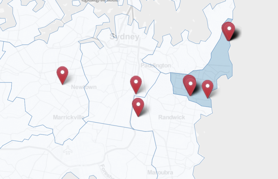 The list of Covid exposure sites has spread to include Sydney's Inner West. Source: NSW Health