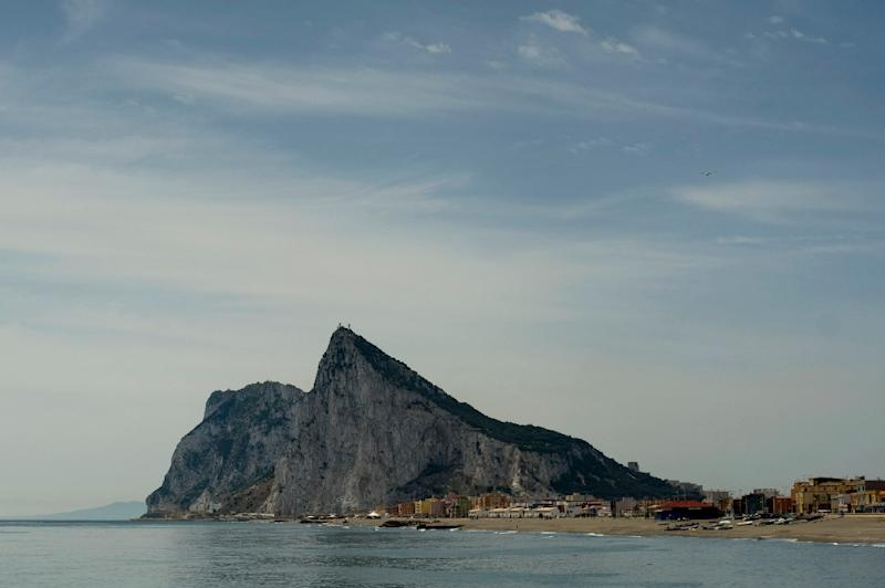 The Spanish Navy corvette Infanta Cristina sailed slowly past the Rock of Gibraltar about a mile from shore prompting the Royal Navy to dispatch a patrol boat to the area