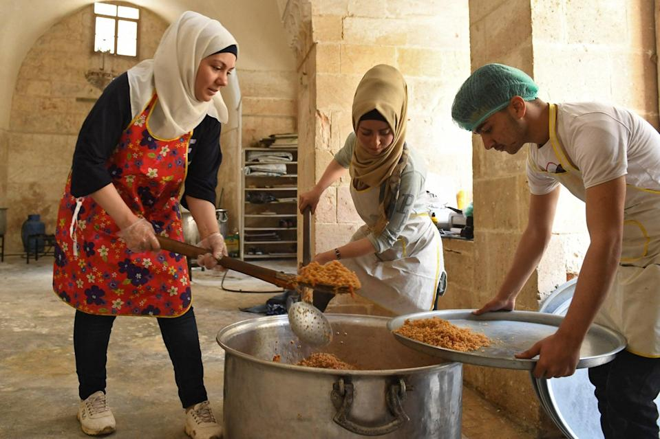 <p>A leak suggested aid funding to Syria would be cut by 67 per cent</p> (AFP/Getty)