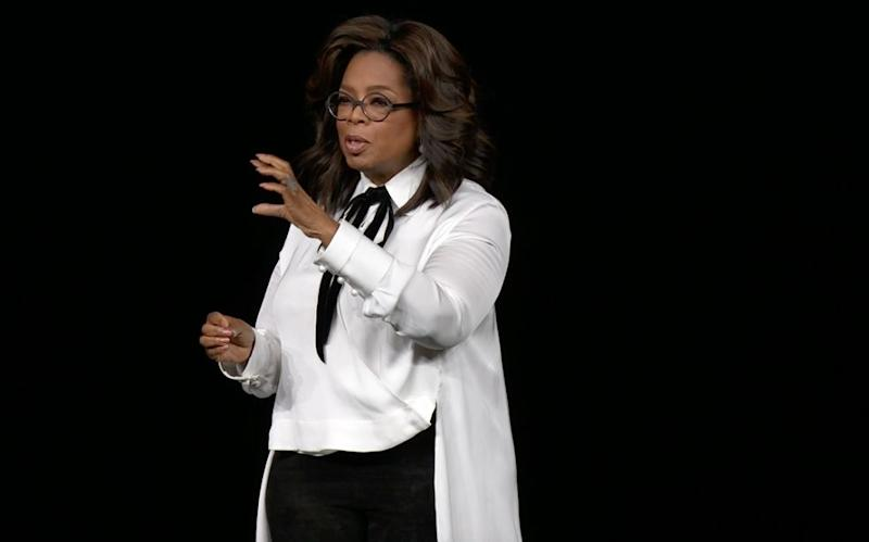 Oprah Winfrey debuts two documentaries she is working on with Apple TV Plus. (image: Apple)