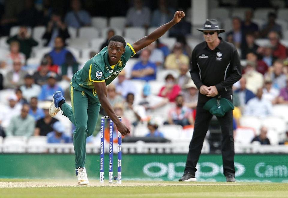 South Africa's Kagiso Rabada bowls during their ICC Champions Trophy match against India, at The Oval in London, on June 11, 2017 (AFP Photo/Ian KINGTON)