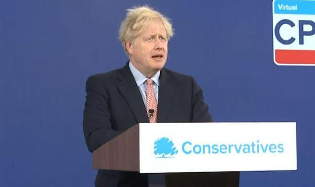 Boris Johnson vows to 'vastly' reduce mortgage deposits in Tory conference speech