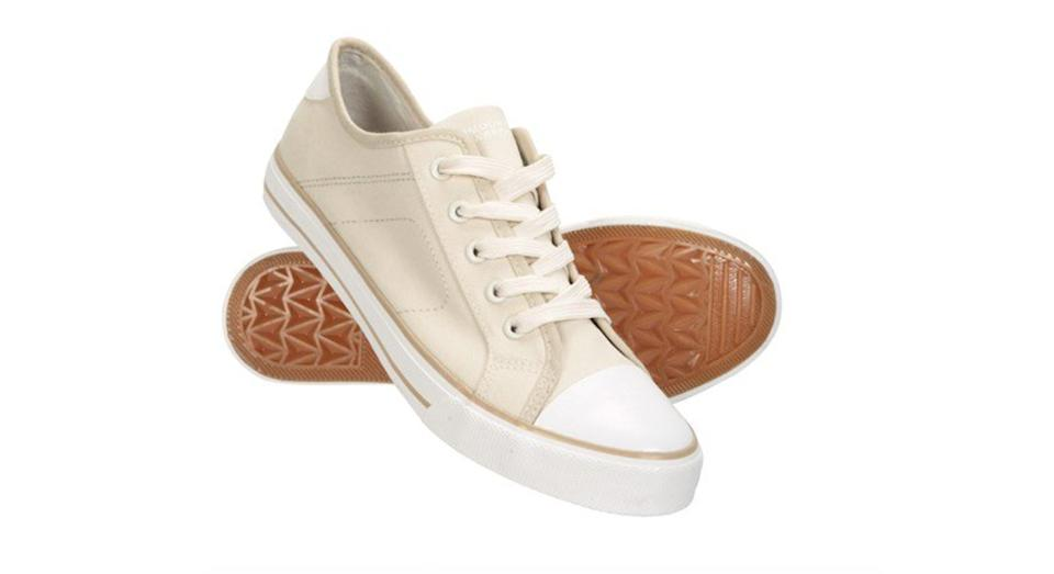 Womens Canvas Plimsoll Trainers