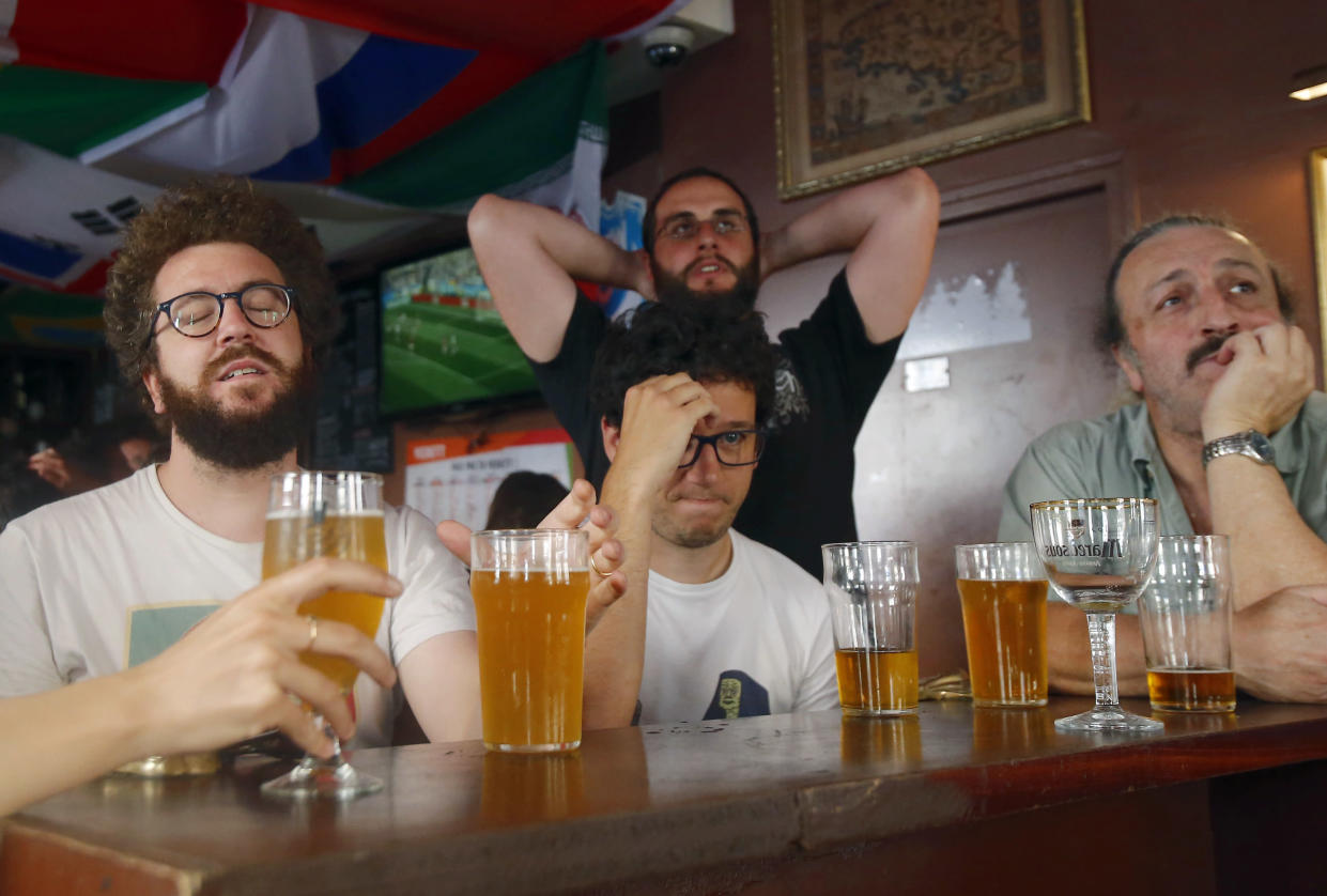 The beer shortage comes in the middle of the world cup (AP Photo/Michel Euler)