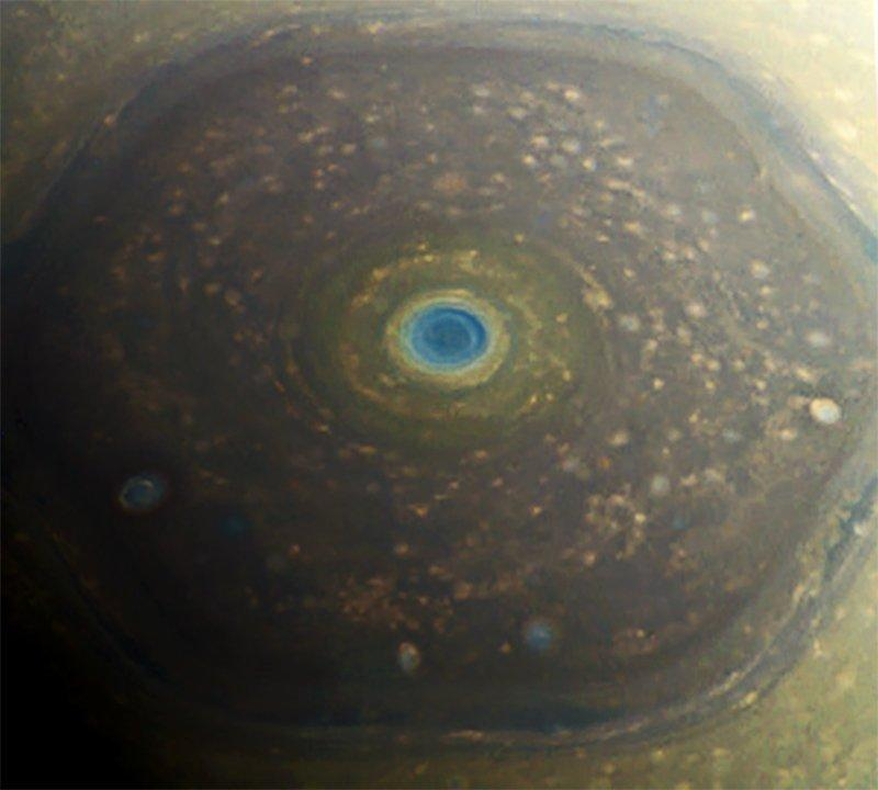 saturn hexagonal storm north pole cassini nasa jpl caltech jason major