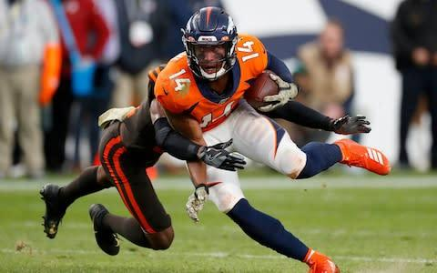 <span>Denver Broncos wide receiver Courtland Sutton </span> <span>Credit: AP </span>