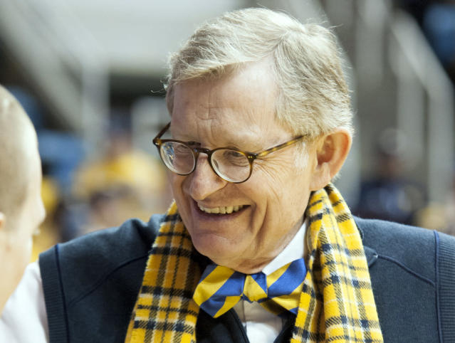 West Virginia president Gordon Gee seems quite confident about the prospects of a 2020 college football season. (AP Photo/Andrew Ferguson)
