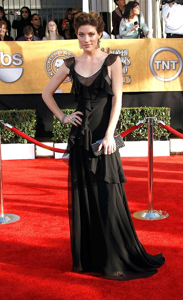 """WORST: <a href=""""http://movies.yahoo.com/movie/contributor/1808536938"""">Jennifer Carpenter</a> at the 15th Annual Screen Actors Guild Awards in Los Angeles - 01/25/2009"""