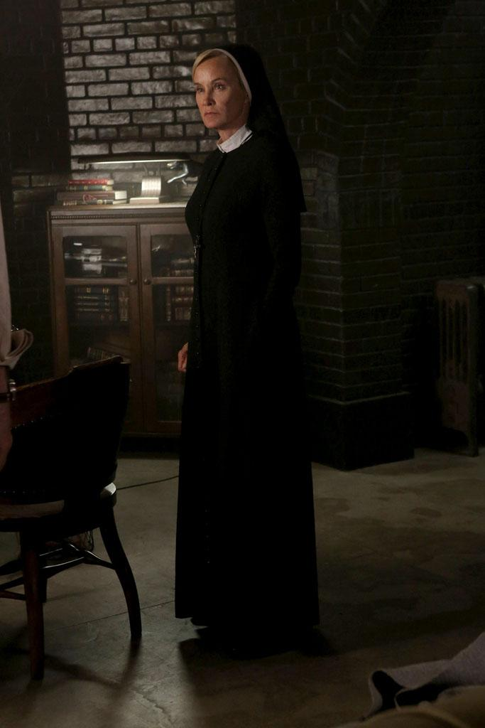 "Jessica Lange as Sister Jude in the ""American Horror Story: Asylum"" episode, ""Nor'easter."""