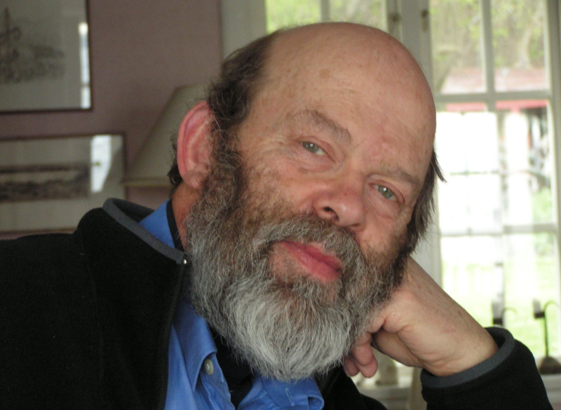 Rolf Castor pictured with a beard and bald head looking into the camera.