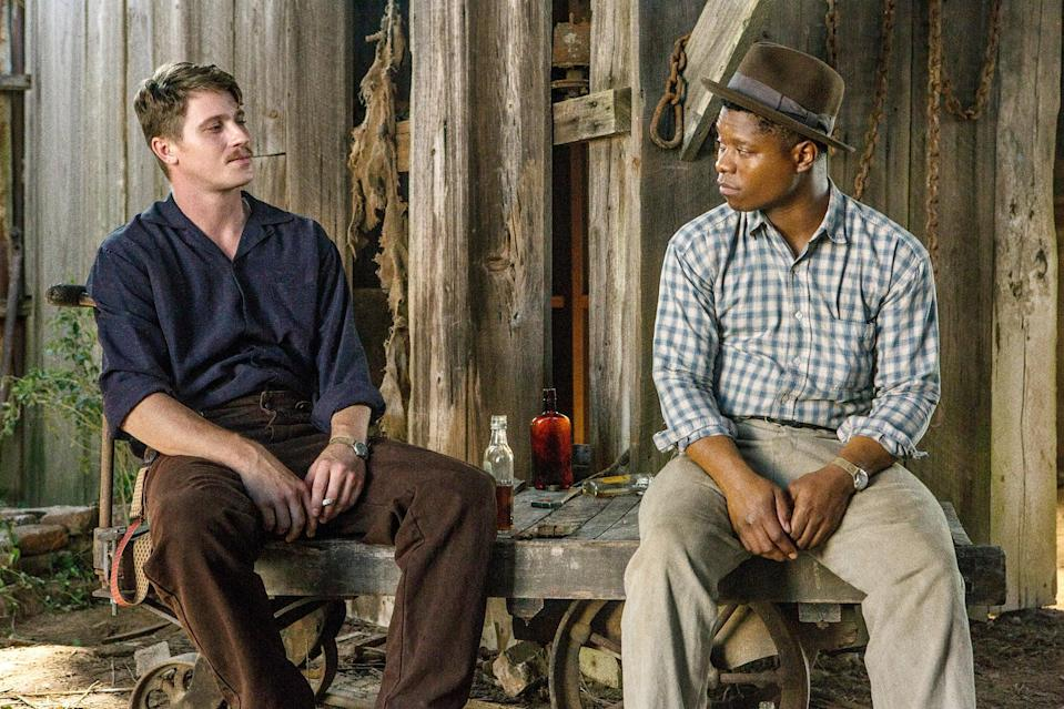 "<p>Based in the era of World War II, this drama digs into the roots of prejudices in the deep South and how two Mississippi families of different ethnic backgrounds make a living doing the same farm work.</p> <p><a href=""http://www.netflix.com/title/80175694"" class=""link rapid-noclick-resp"" rel=""nofollow noopener"" target=""_blank"" data-ylk=""slk:Watch Mudbound on Netflix now."">Watch<strong> Mudbound</strong> on Netflix now.</a></p>"