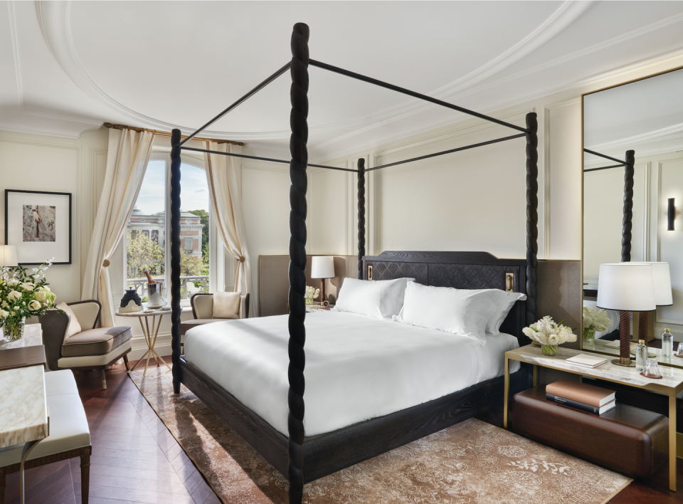 """<p>There's always a fair amount of trepidation when an iconic hotel is purchased and revamped by a multinational conglomerate. The Ritz in Madrid, thankfully, did not end up like the Cecilia Giménez's infamous <em><a href=""""https://www.nytimes.com/2012/08/24/world/europe/botched-restoration-of-ecce-homo-fresco-shocks-spain.html"""" rel=""""nofollow noopener"""" target=""""_blank"""" data-ylk=""""slk:Ecce Homo"""" class=""""link rapid-noclick-resp"""">Ecce Homo</a></em> fresco restoration. The Belle-Époque property which opened in 1910 as a showcase hotel to appease the King of Spain, has been faithfully redesigned by Jorge Vázquez and reopened as <a href=""""https://www.mandarinoriental.com/madrid/hotel-ritz/luxury-hotel"""" rel=""""nofollow noopener"""" target=""""_blank"""" data-ylk=""""slk:Mandarin Oriental Ritz, Madrid"""" class=""""link rapid-noclick-resp"""">Mandarin Oriental Ritz, Madrid</a>. Rest assured that its old-world gilt and glamour have by no means been diminished. </p><p><a class=""""link rapid-noclick-resp"""" href=""""https://go.redirectingat.com?id=74968X1596630&url=https%3A%2F%2Fwww.tripadvisor.com%2FHotel_Review-g187514-d190570-Reviews-Mandarin_Oriental_Ritz_Madrid-Madrid.html&sref=https%3A%2F%2Fwww.elledecor.com%2Flife-culture%2Fg36802095%2Fbest-new-hotels-in-the-world%2F"""" rel=""""nofollow noopener"""" target=""""_blank"""" data-ylk=""""slk:Book Now"""">Book Now</a></p>"""