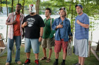'Grown Ups' - £187 million: Never let it be said that Adam Sandler is an idiot: he managed to make a movie where he got to goof around with his real-life friends, got paid for the privilege, and still people forked over their hard-earned cash to see it. The idiots are winning!