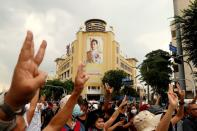 FILE PHOTO: FILE PHOTO: Thai anti-government mass protest, on the 47th anniversary of the 1973 student uprising, in Bangkok
