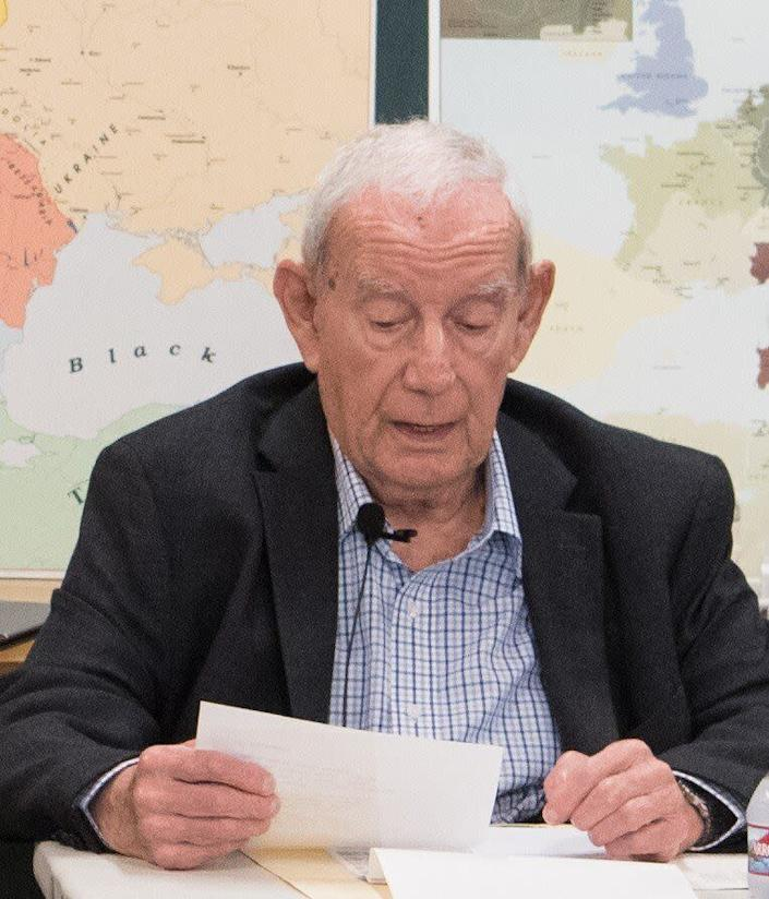 """Jack Lewin speaks at the Los Angeles Museum of the Holocaust on a recent Holocaust Remembrance Day.&nbsp;&nbsp; (Photo: <a href=""""http://www.lamoth.org/"""" rel=""""nofollow noopener"""" target=""""_blank"""" data-ylk=""""slk:Courtesy of The Los Angeles Museum of the Holocaust"""" class=""""link rapid-noclick-resp"""">Courtesy of The Los Angeles Museum of the Holocaust </a>)"""
