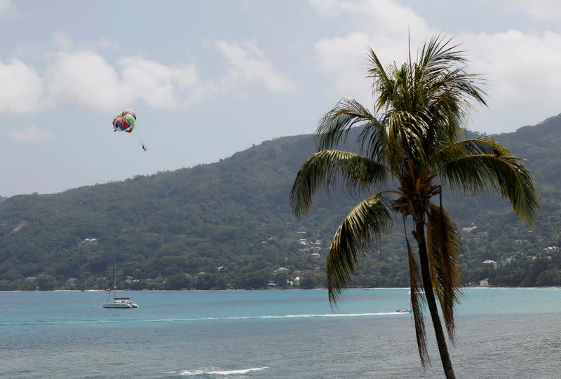FILE PHOTO: General view of a Seychelles beach