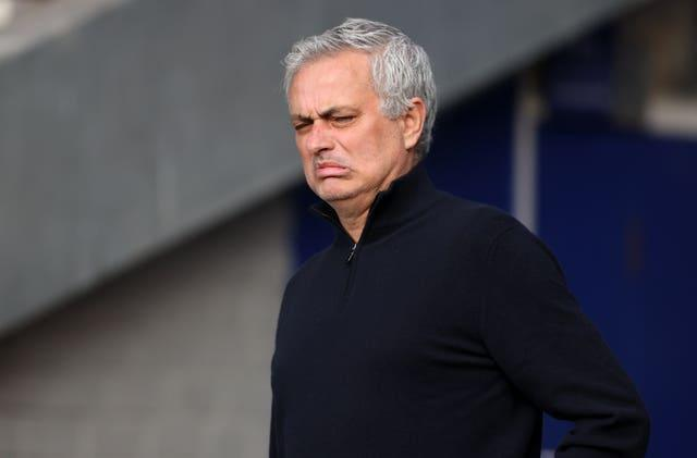 ose Mourinho grimaces at Goodison Park in April. The Portuguese had significant reason to be unhappy following the 2-2 draw with Everton as he was sacked by Tottenham just three days later. The Portuguese, who spent 17 months in charge of Spurs, was not out of work long as he was appointed head coach of Italian club Roma ahead of the 2021-22 season just over a fortnight later. His dismissal by the north London club came less than a week before their Carabao Cup final defeat to Manchester City. Ryan Mason was placed in caretaker charge of Spurs for the rest of the campaign