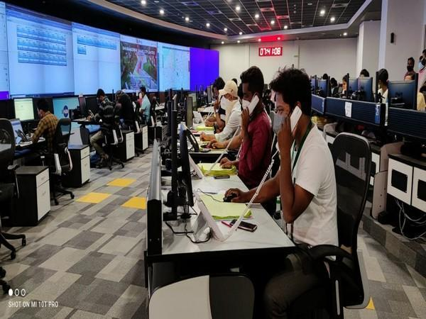 Visual of the call centre in Bhubaneswar (Photo/ANI)