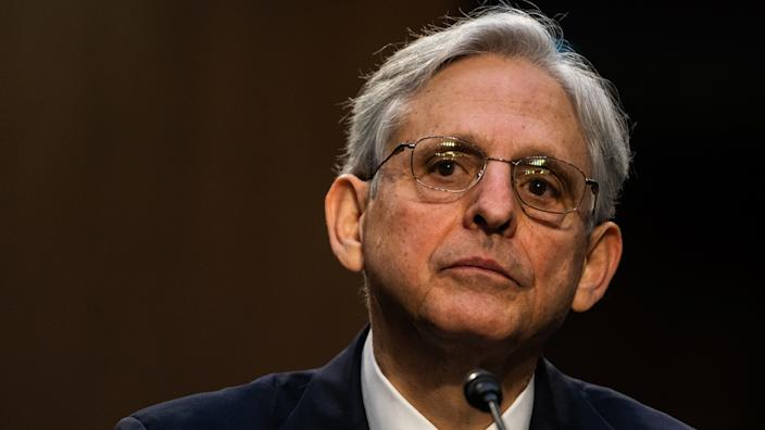 U.S. Attorney General nominee Merrick Garland speaks during his confirmation hearing in the Senate Judiciary Committee on Capitol Hill on February 22, 2021 in Washington, DC. (Demetrius Freeman-Pool/Getty Images)