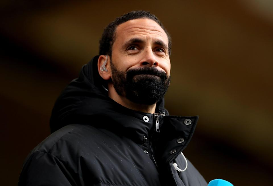 Football fan Jamie Arnold has denied racially abusing Rio Ferdinand during the Premier League match between Wolves and Manchester United on May 23 (Bradley Collyer/PA) (PA Wire)