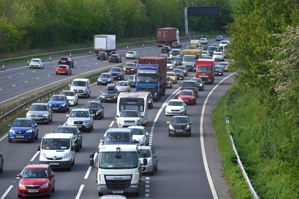 Drivers are being warned to avoid embarking on a Bank Holiday getaway on Friday afternoon (Steve Parsons/PA) (PA Wire)