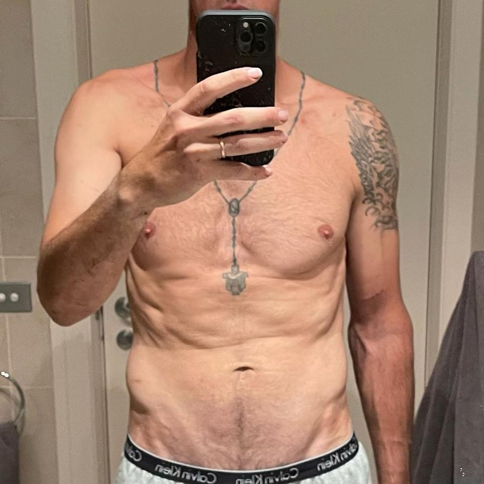 Mark Philippoussis shows off dramatic weight loss following upcoming stint on SAS Australia. Photo: Instagram/mphilippoussis.