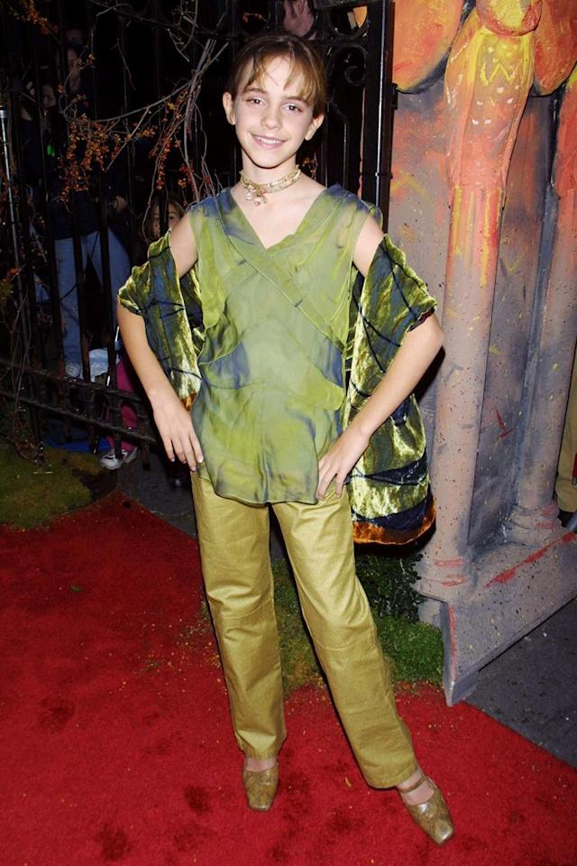 <p>Watson's penchant for arm drapery was at its peak in 2001.</p>